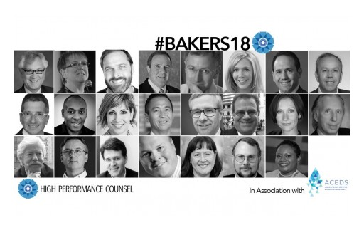 High Performance Counsel and ACEDS Unveil Exclusive #Bakers18 New Year Predictions for the Legal Industry